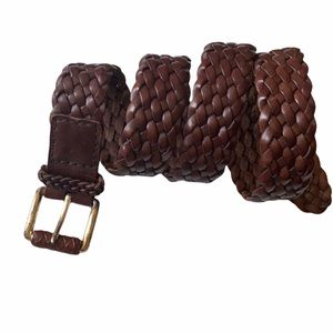 BARNEYS New York Woven Leather Braided Belt